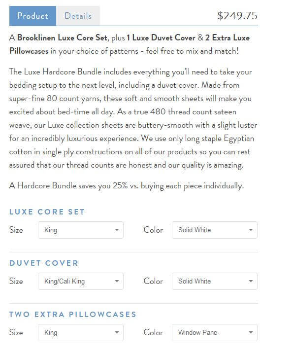 Brooklinen sheets cost