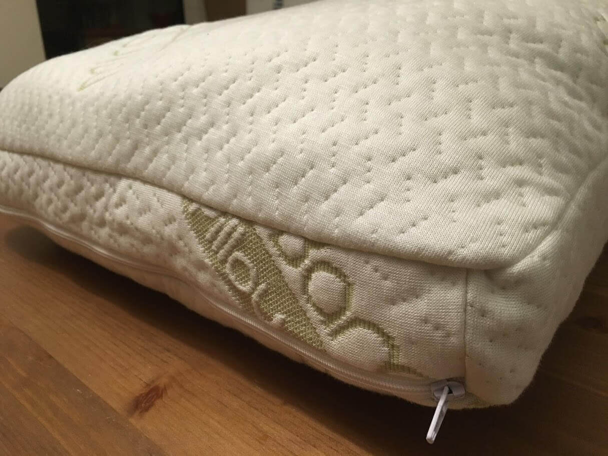side view miracle bamboo pillow