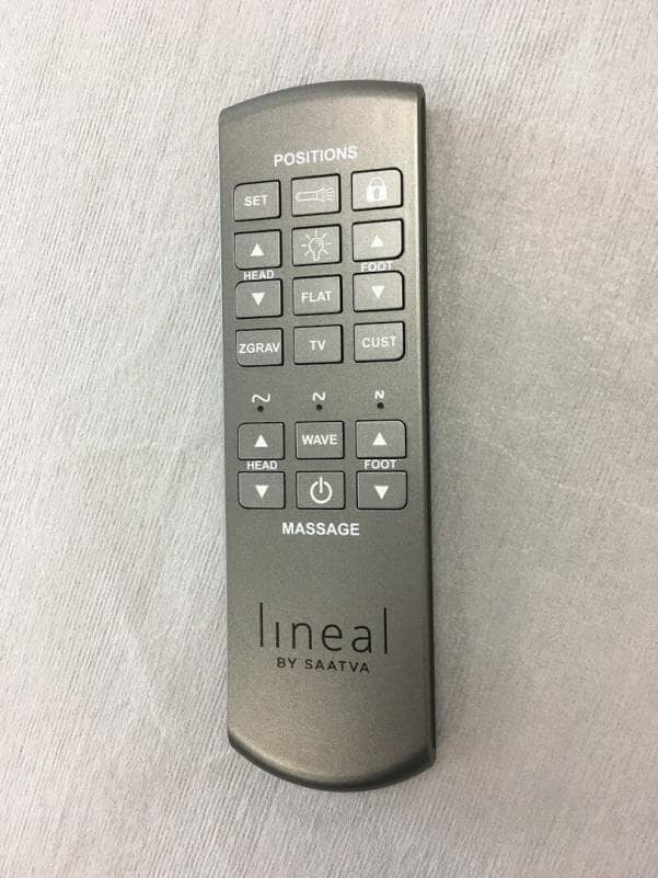Lineal adjustable bed remote control