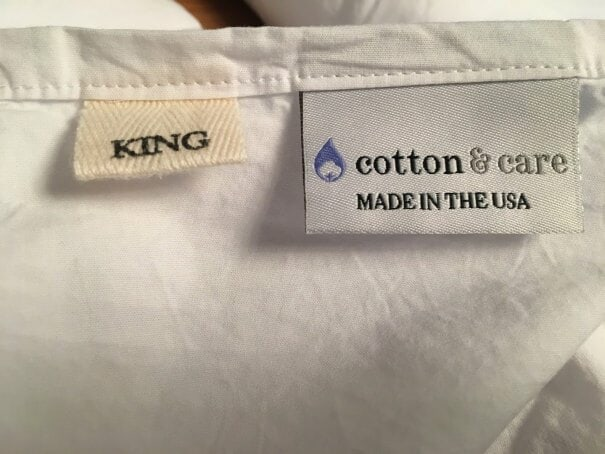 Cotton and care made in usa sheets
