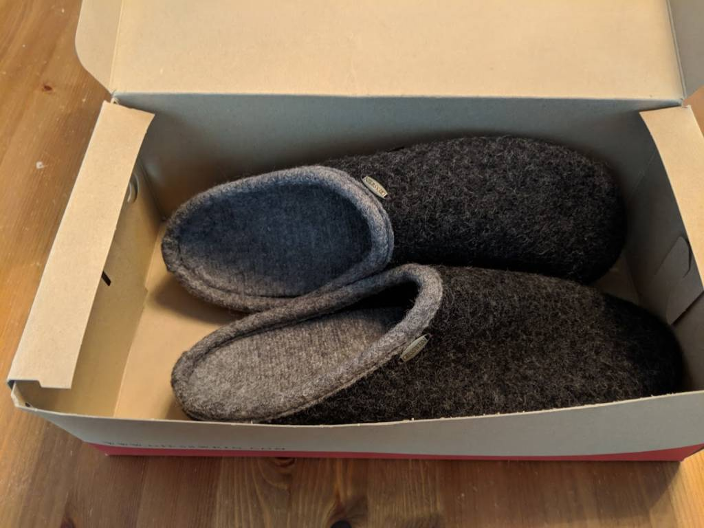 slippers in box