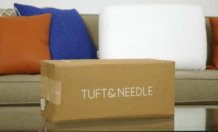 tuft and needle pillow branded packaging