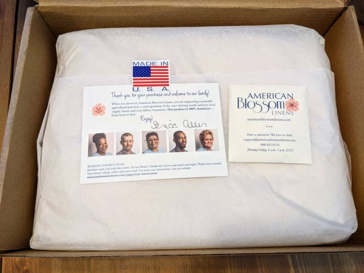 American Blossom Linens Pure American Made Sheets The