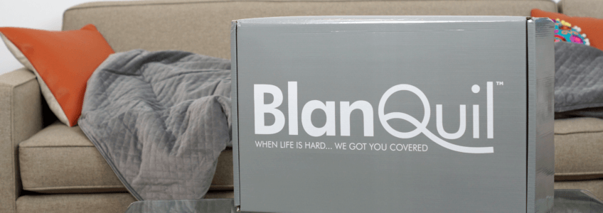 blanquil weighted blanket branded packaging