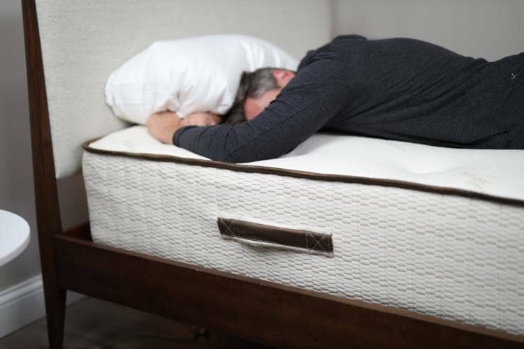 real bed stomach sleeping