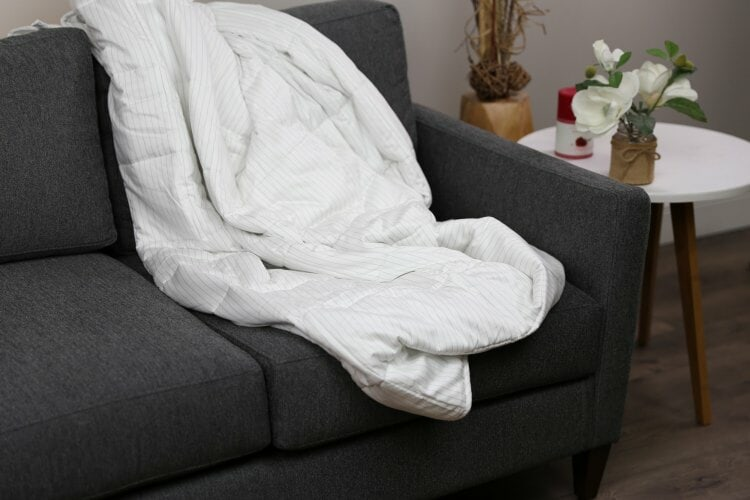 draped luna weighted blanket
